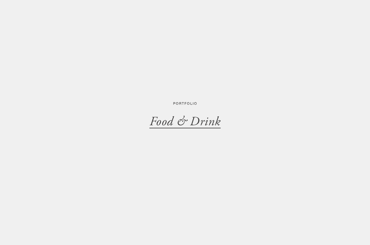 Food and Drink | Published Work